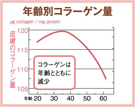 年齢別コラーゲン量